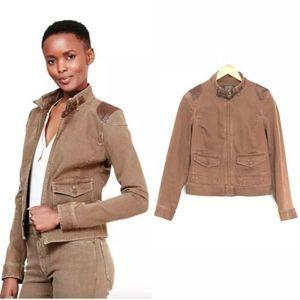 Lauren Ralph Lauren Ivabelia Jacket w/Leather